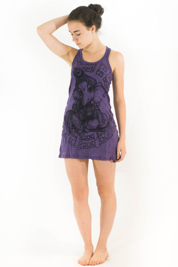 Tank Dress Baby Ganesh Purple - Koia Collective