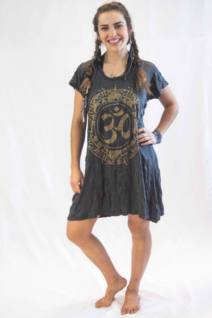 Tunic Dress Ohm Gold - Koia Collective