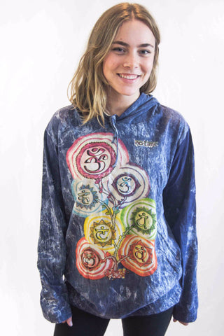 Chakra Tree Hoodie Blue - Koia Collective