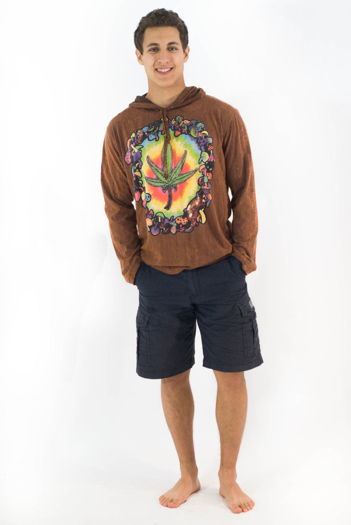 Weed Hoodie Brown - Koia Collective
