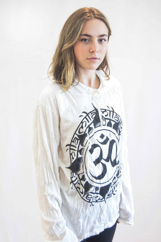 Ohm Hoodie White - Koia Collective