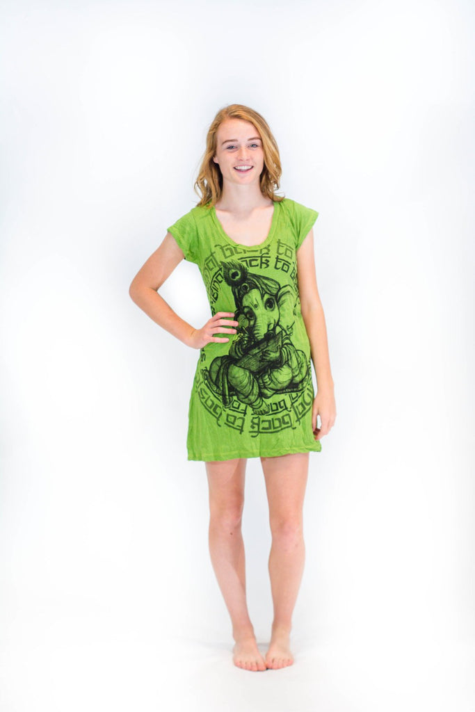 Tunic Dress Baby Ganesh Green - Koia Collective