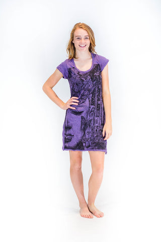 Tunic Dress Buddha Dark Purple - Koia Collective