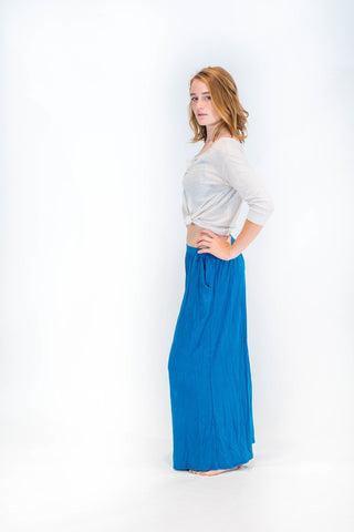 Women's Wide Leg  Pants Blue - Koia Collective