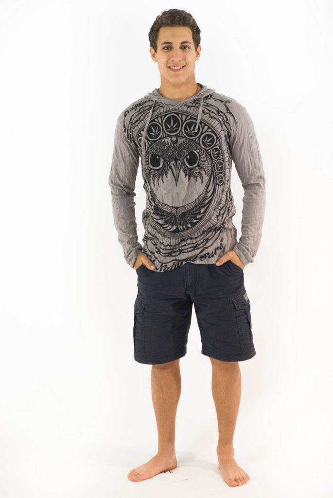 Weed Owl Hoodie Grey - Koia Collective