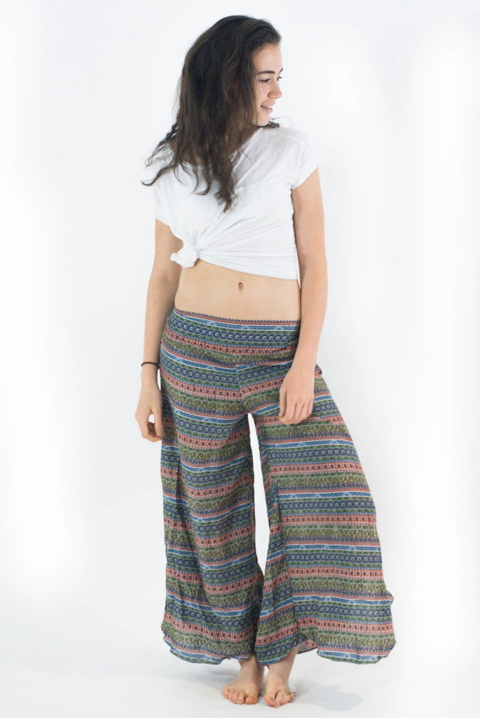Wide Leg Harem Pants Aztec Stripes - Koia Collective