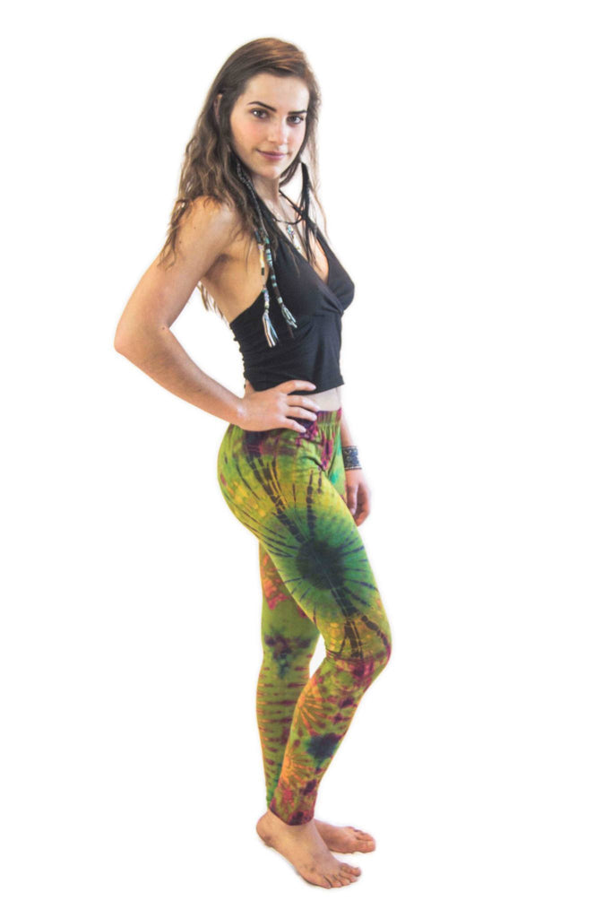 Green Mix Tie Dye Leggings - Koia Collective
