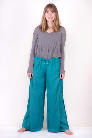 Women's Double Layer Palazzo Harem Pants - Koia Collective
