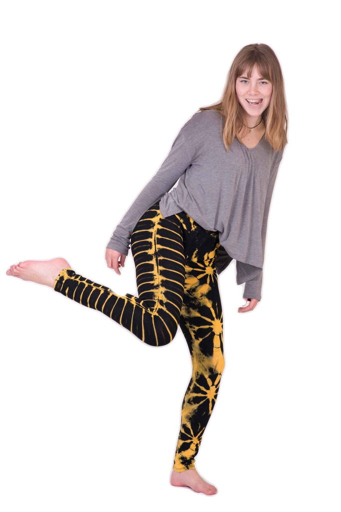 Yellow Tie Dye Leggings - Koia Collective
