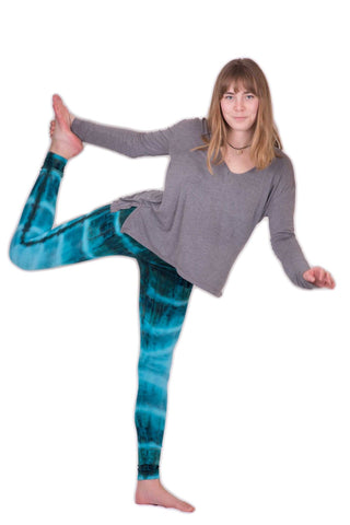 Turquoise Patch Tie Dye Leggings - Koia Collective