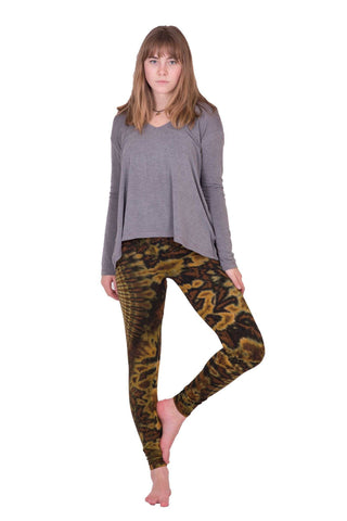 Green Oval Swirl Tie Dye Leggings - Koia Collective