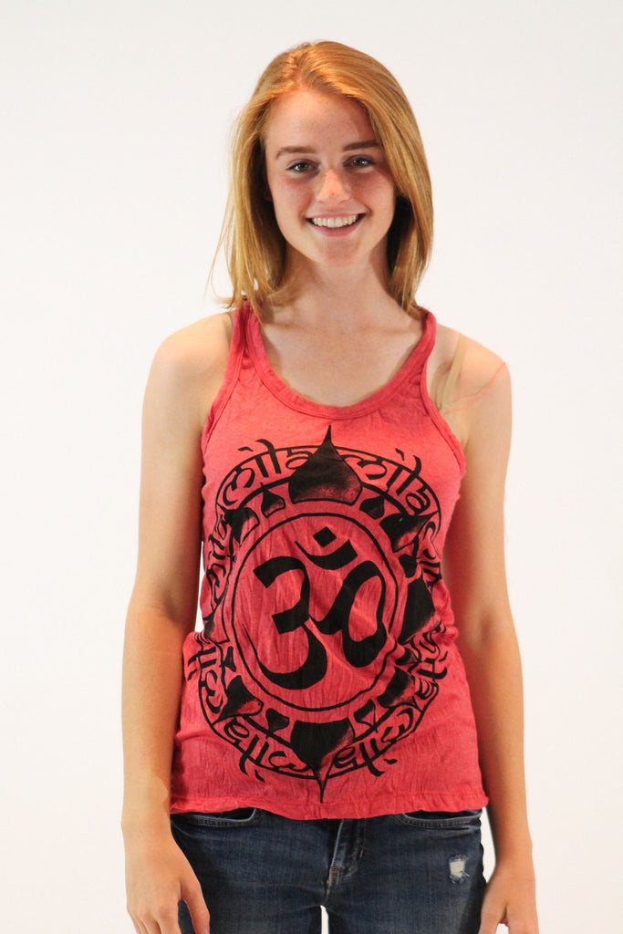 Women's Tank Ohm Red - Koia Collective