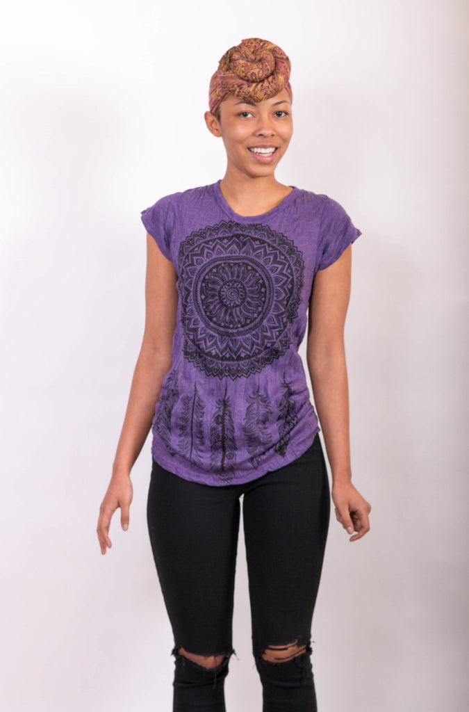Women's Dream Catcher Shirt Purple - Koia Collective