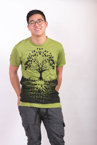 Men's Shirt Tree of Life Green - Koia Collective