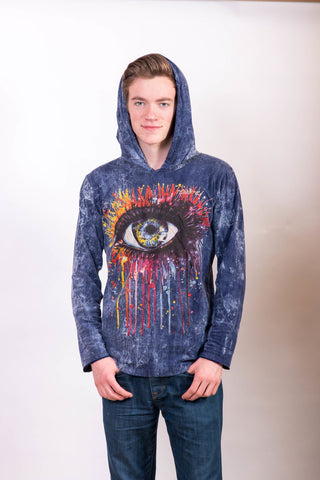 Eye Hoodie Blue - Koia Collective