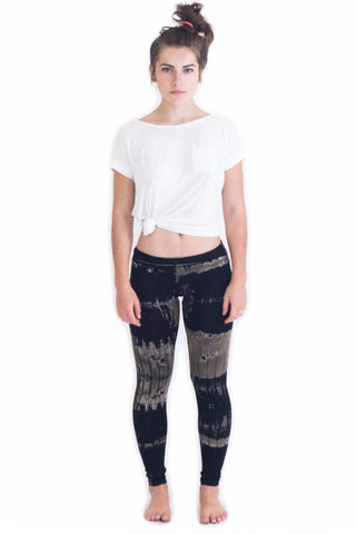 Grey Patch Tie Dye Leggings - Koia Collective