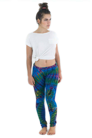 Deep Blue Tie Dye Leggings - Koia Collective