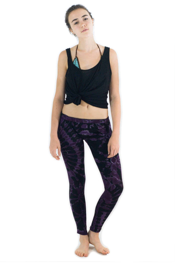 Purple Tie Dye Leggings - Koia Collective