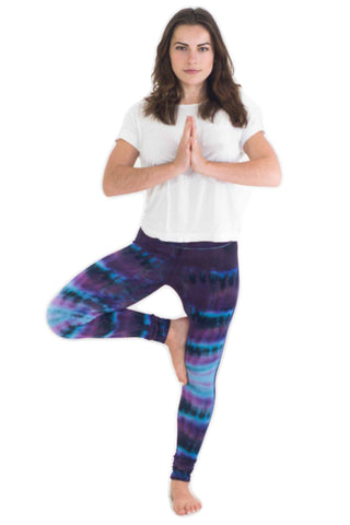 Indigo Patch Tie Dye Leggings - Koia Collective