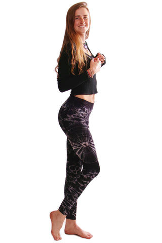 Black Swirl Tie Dye Leggings - Koia Collective