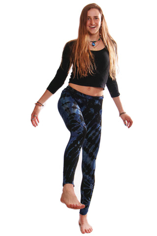 Blue Tie Dye Leggings - Koia Collective