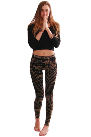 Brown Oval Tie Dye Leggings - Koia Collective