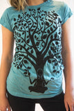 Women's Shirt Yoga Tree Blue - Koia Collective