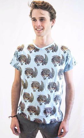 Men's Bird Shirt Blue - Koia Collective