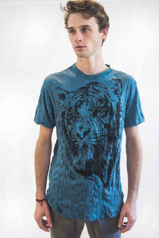 Men's Tiger Shirt Blue - Koia Collective