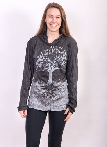 Tree of Life Hoodie Silver - Koia Collective