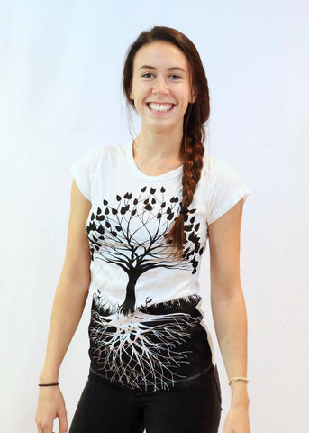 Women's Shirt Tree of Life White - Koia Collective