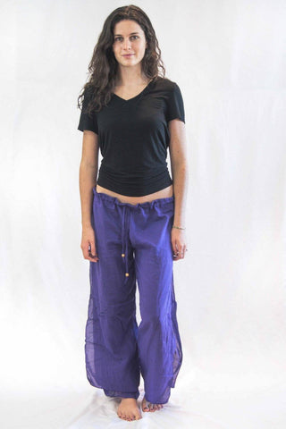 Women's Thai Harem Palazzo Pants Purple - Koia Collective