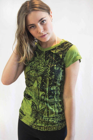 Buddha Women's Shirt Green - Koia Collective
