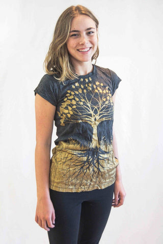 Women's Shirt Tree of life Gold - Koia Collective