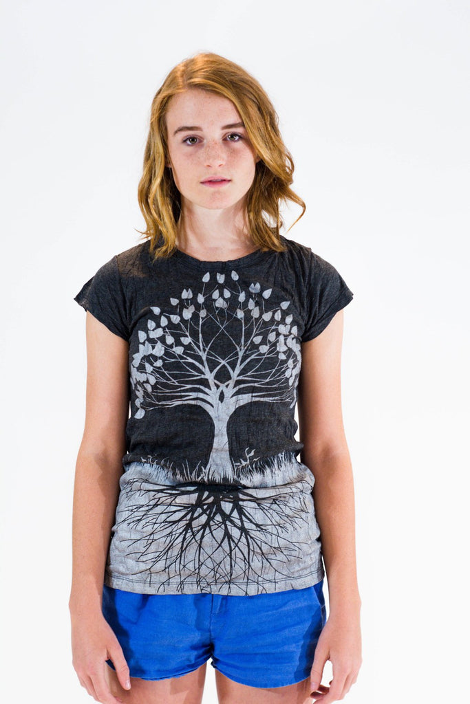 Women's Shirt Tree of Life Silver - Koia Collective