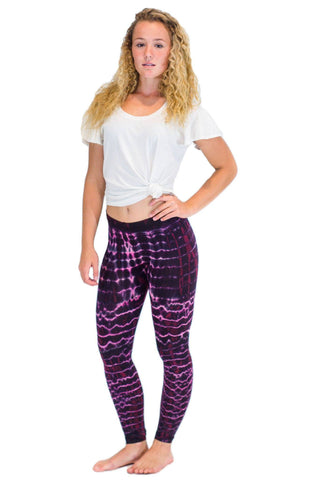 Pink Melting Stripes Tie Dye Leggings - Koia Collective