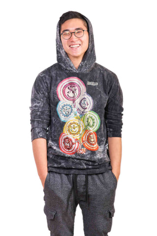 Chakra Tree Hoodie Black - Koia Collective