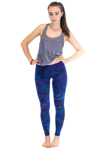 Blue Purple Mix Tie Dye Leggings - Koia Collective