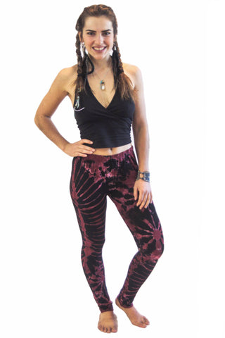 Maroon Tie Dye Leggings - Koia Collective