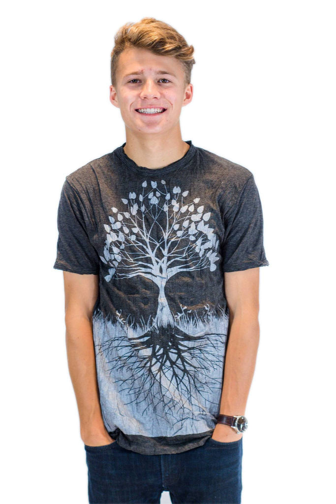 Men's Shirt Tree of Life Silver - Koia Collective