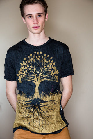 Men's Shirt Tree of Life Gold - Koia Collective
