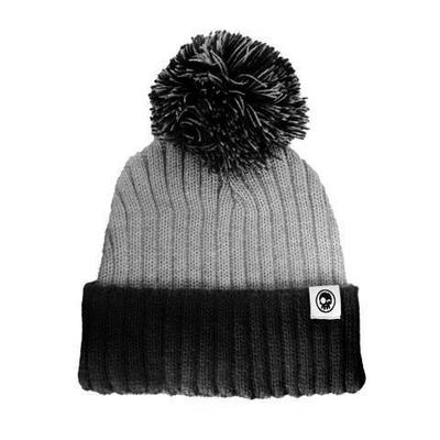 Two Tone Grey/Black with Pom