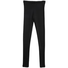 Rib Leggings Black