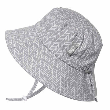 Cotton Bucket: Grey Herringbone