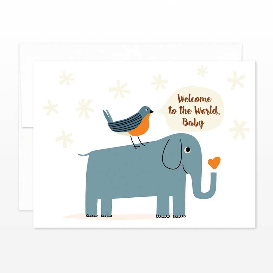 New Baby Elephant Congratulations New Parents Card