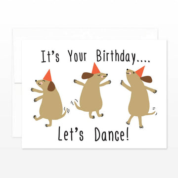 Dancing Dogs Birthday Card
