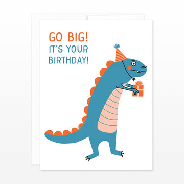 Go Big Dinosaur Birthday Card