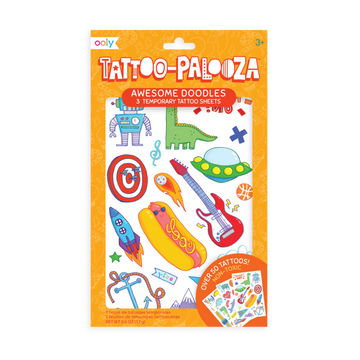 Tattoo Palooza Temporary Tattoo: Awesome Doodles