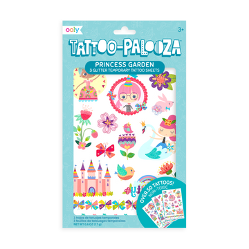 Tattoo Palooza Temporary Glitter Tattoo: Princess Garden