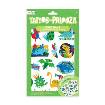 Tattoo Palooza Temporary Tattoo: Dino Days